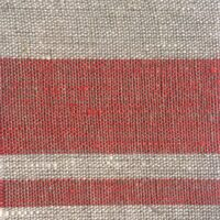 Linen red stripes 612