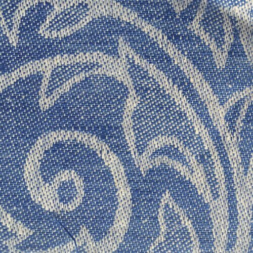 Linen blue leaves 625